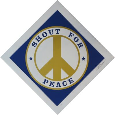 Robert Indiana, 'Shout for Peace (Blue/Gold)', 2014