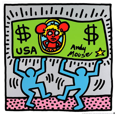 Keith Haring, 'Andy Mouse III', ca. 1993