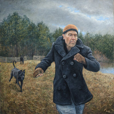 Dustin Neece, 'Man with Dogs in the Field', ca. 2000