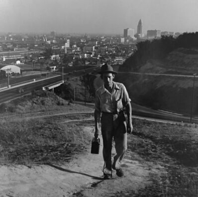 Don Normark, 'Returning home to la Loma, Chavez Ravine, Los Angeles', 1949