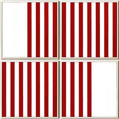 Daniel Buren, 'The Missing Square (4 Panels)', 1989
