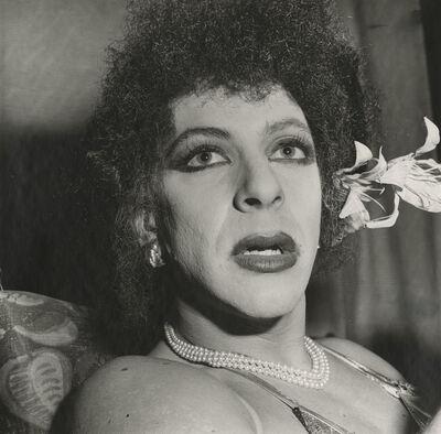 Peter Hujar, 'Drag Queen with Flower, Halloween', 1981