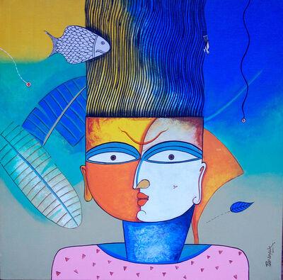 Prakash G Nayak, 'Mask of Goddess 29', 2017
