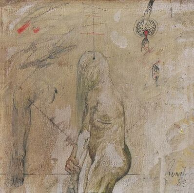 "Sunil Das, 'Confrontation Series, Nude, Oil on Canvas by Modern Indian Artist ""In Stock""', 1983"