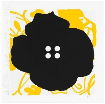 Donald Sultan, 'Button Flowers-Yellow', 2014
