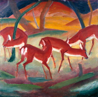 Franz Marc, 'RED DEER I', 1910