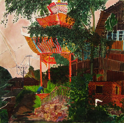 Liang Qunfeng, 'Colored House in Old Village', 2013