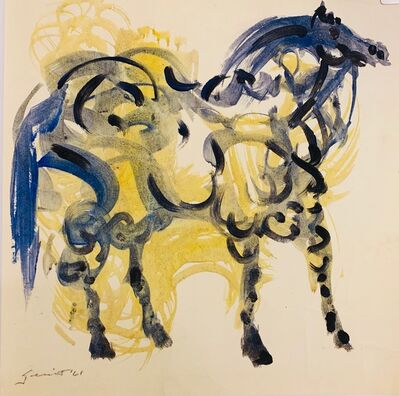 Walter Quirt, 'Untitled (Yellow and Black Horse)', 1961