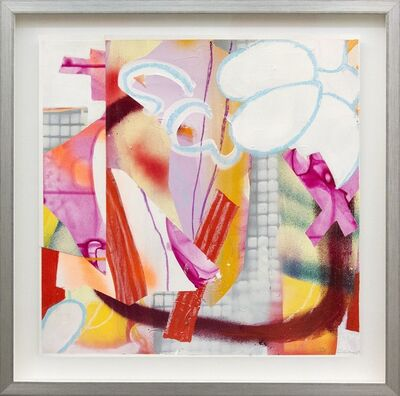 Fiona Ackerman, 'Composition No 20 - colorful collage in bright magenta, red, yellow and orange', 2015