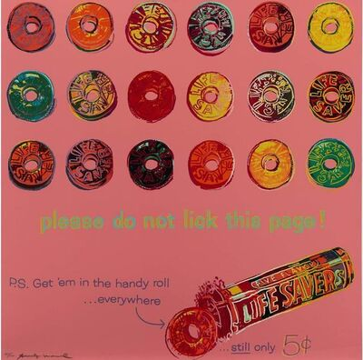Andy Warhol, 'Lifesavers from Ads', 1985