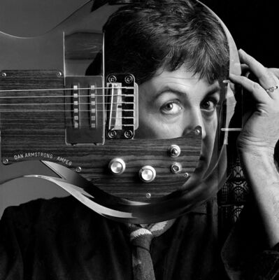 Clive Arrowsmith, 'Paul McCartney, Plexiglass Guitar, Studio London', 1982