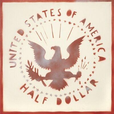 Franco Angeli, 'Half dollar', 1980