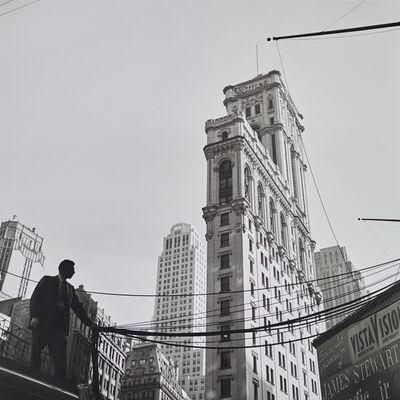 Vivian Maier, 'VM1955W02752 - 1955, Vista Vision, Man Holding Cables', Printed 2017