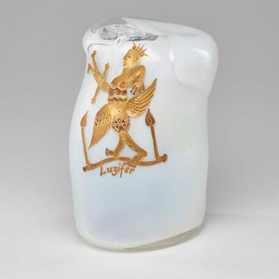 Erwin Eisch, 'Luzifer (Lucifer) vase, engraved and gilt decoration', 1985