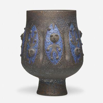 Edwin Scheier, 'Tall chalice form', 1988