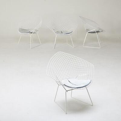 "Harry Bertoia, 'Four ""Diamond"" chairs', 1950s/60s"