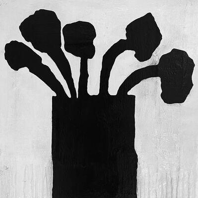 Donald Baechler, 'Black Flowers 6.2020', 2020