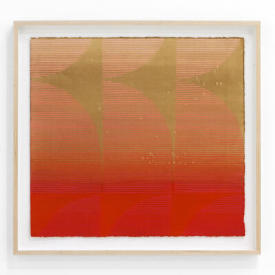 """Kelly Ording, '""""Eight Answers to a Problem (Orange / Pink)""""', 2018"""
