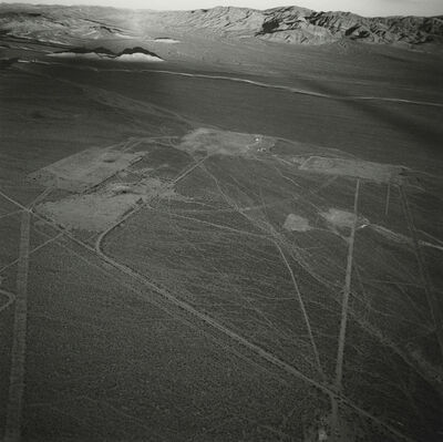 Emmet Gowin, 'Several Roads and Five Subsidence Craters North of the Radioactive Waste Management Site, Eastern Side of Area 5, Nevada Test Site', 1997