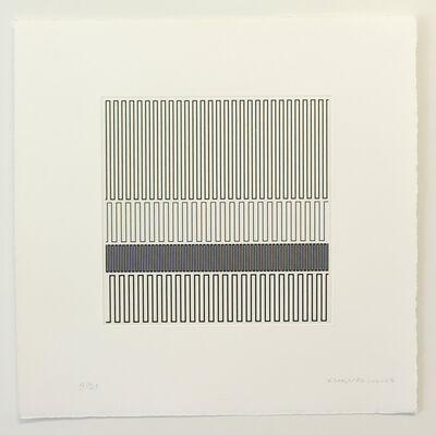 Vera Molnar, ' Quelques lignes à Julije 3', 2007-2013