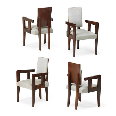 André Sornay, 'Four armchairs, France', 1930s