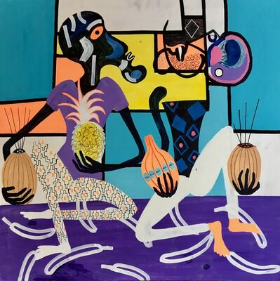 Frantisek Florian, 'African figures 15', 2019