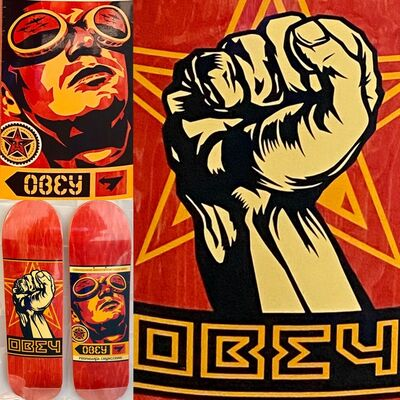 Shepard Fairey, 'Shepard Fairey Obey Skateboard Decks (set of 2)', 2019