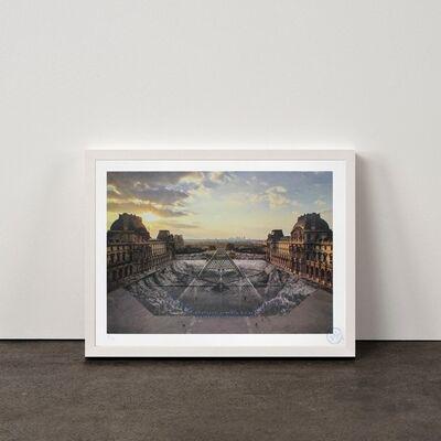 JR, 'JR au Louvre, 29 Mars 2019, 18h08 © Pyramide, architecte I. M. Pei, musée du Louvre, Paris, France, 2019', 2021