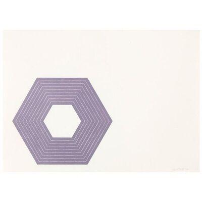 Frank Stella, 'Purple Sidney', 1972