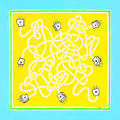 Rose Eken, 'Larskhead and Sheet Bend Cables in Yellow and White ', 2019