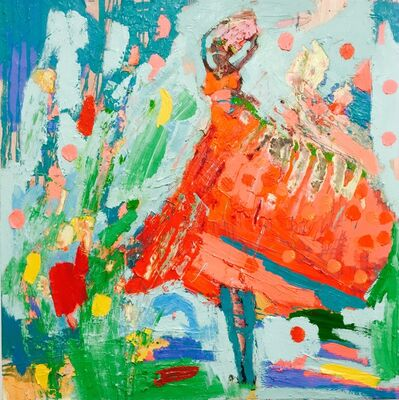 Paul Wadsworth, 'Red Dancer'
