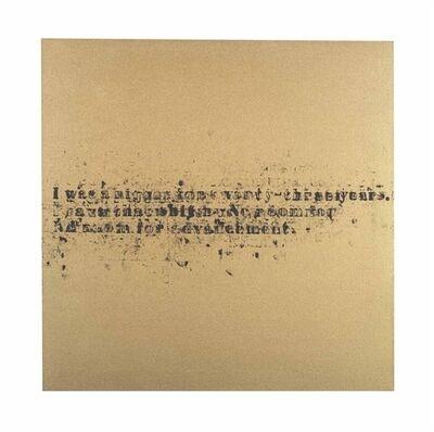 Glenn Ligon, 'No Room (Gold) #7'