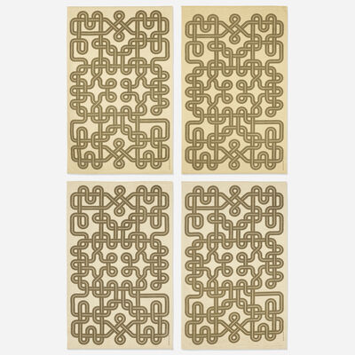 Alexander Girard, 'Knot Environmental Enrichment Panels, set of four', 1972