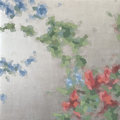 Elaine Coombs, 'Floral Sparkle 1(pearl)', 2021