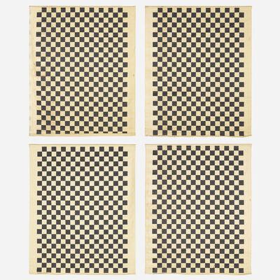 Alexander Girard, 'Checks Environmental Enrichment Panels, set of four', 1972