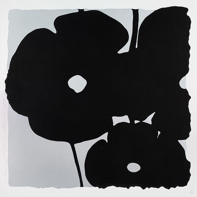 Donald Sultan, 'Reversal Poppies, Silver and Black', 2015