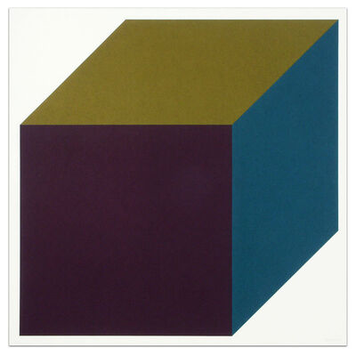 Sol LeWitt, 'Forms Derived from a Cube (Colors Superimposed), Plate #1', 1991