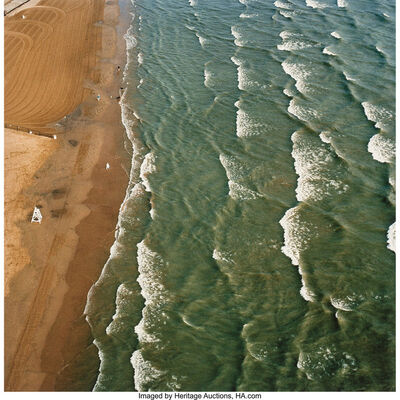 Terry Evans, 'Lake Michigan, Beach and Dogs, Chicago, July 23', 2003
