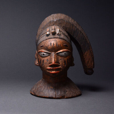 Unknown Yoruba, 'Yoruba Wooden Polychrome Egungun Headdress Mask', 20th Century AD