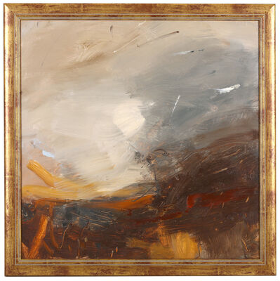 Louise Balaam, 'Coast high, wind and surf; and Deep brown and Ochre ground'