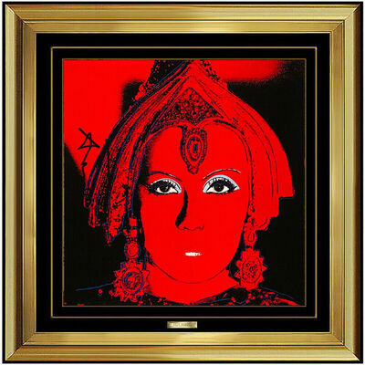 Andy Warhol, 'Andy Warhol Hand Signed Color Lithograph The Star Mata Hari Greta Garbo Myths', 1981