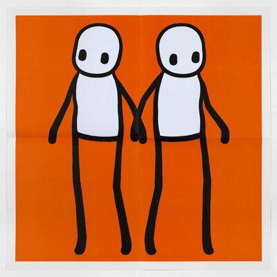Stik, 'Holding Hands (Orange)', 2020
