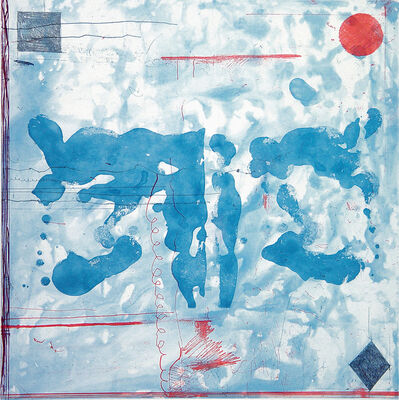 Pat Steir, 'Mixed Marks, Rorschach with Symbols in Corner', 2004