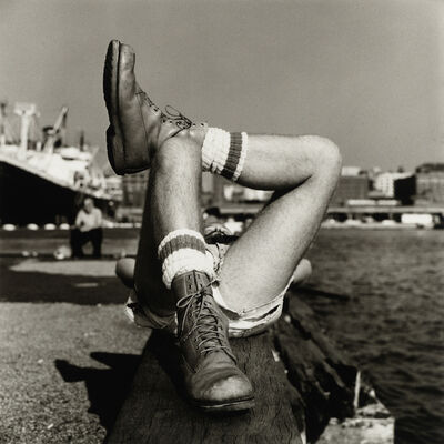 Peter Hujar, 'Christopher Street Pier #2 (Crossed Legs), 1976', 1976