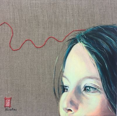 Brigitte Yoshiko Pruchnow, 'Red thread no. 03', 2017