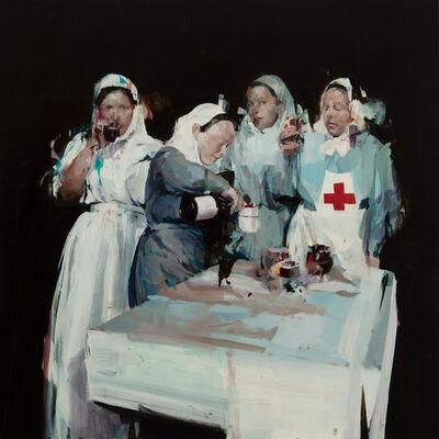 Alex Kanevsky, 'Nurses with Wine', 2019