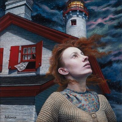 Andrea Kowch, 'Night Watch - Limited Edition Hand Signed Print'