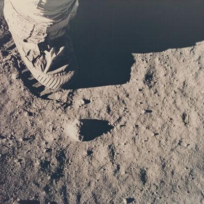 Buzz Aldrin, 'Aldrin's boot during soil mechanics test', 1969