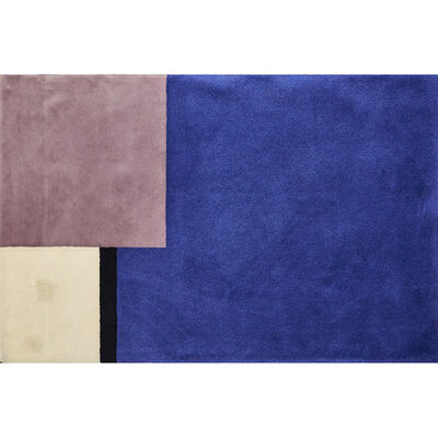 Eileen Gray, 'Wool room-sized rug with color-block motif'