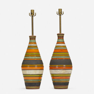 Aldo Londi, 'Thailandia table lamps, pair', c. 1960
